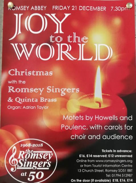 Romsey Abbey Joy to the World Romsey Singers: 21 Dec 2018.
