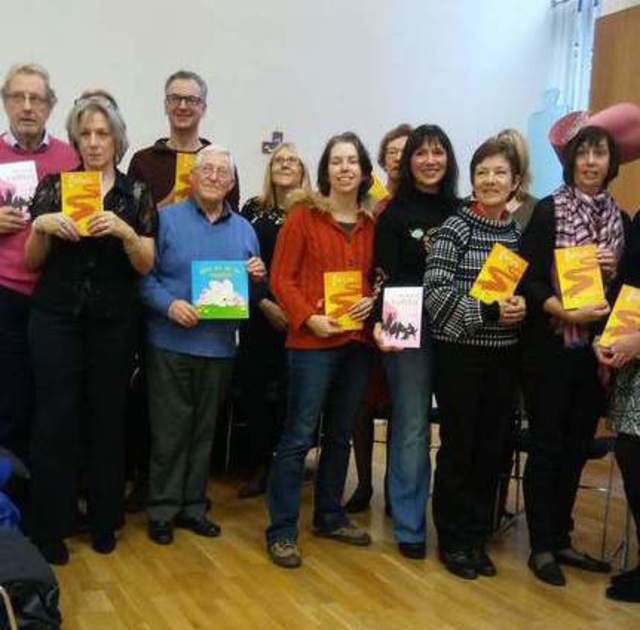 Some of the Crackers and Cafelit 7 authors - image by Allison Symes