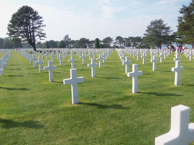 Normandy American Cemetery and Memorial in Colleville-sur-Mer, Normandy.