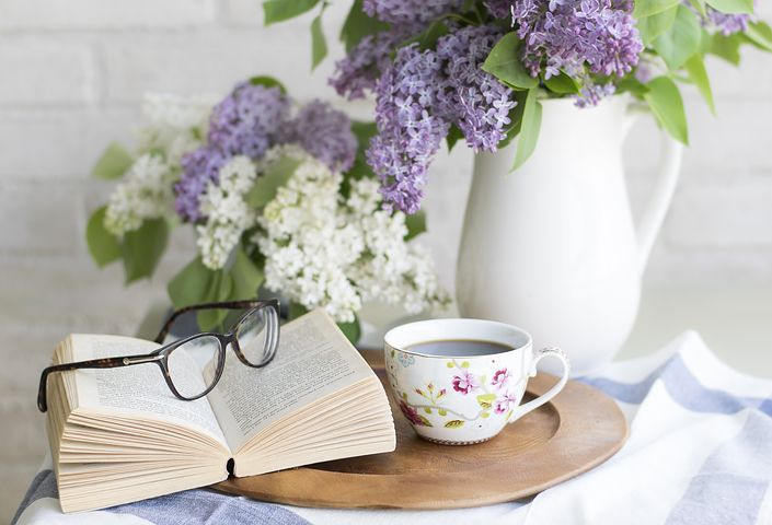 One of the great joys in life - reading (and tea or coffee of course!) - Pixabay