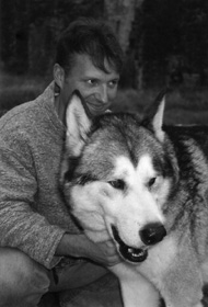 Mark with Brenin, his wolf