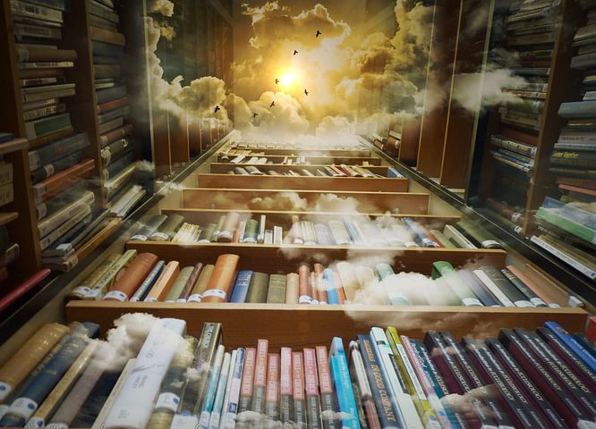 The book worm's idea of heaven I suspect and there will be picture books in here - Pixabay image
