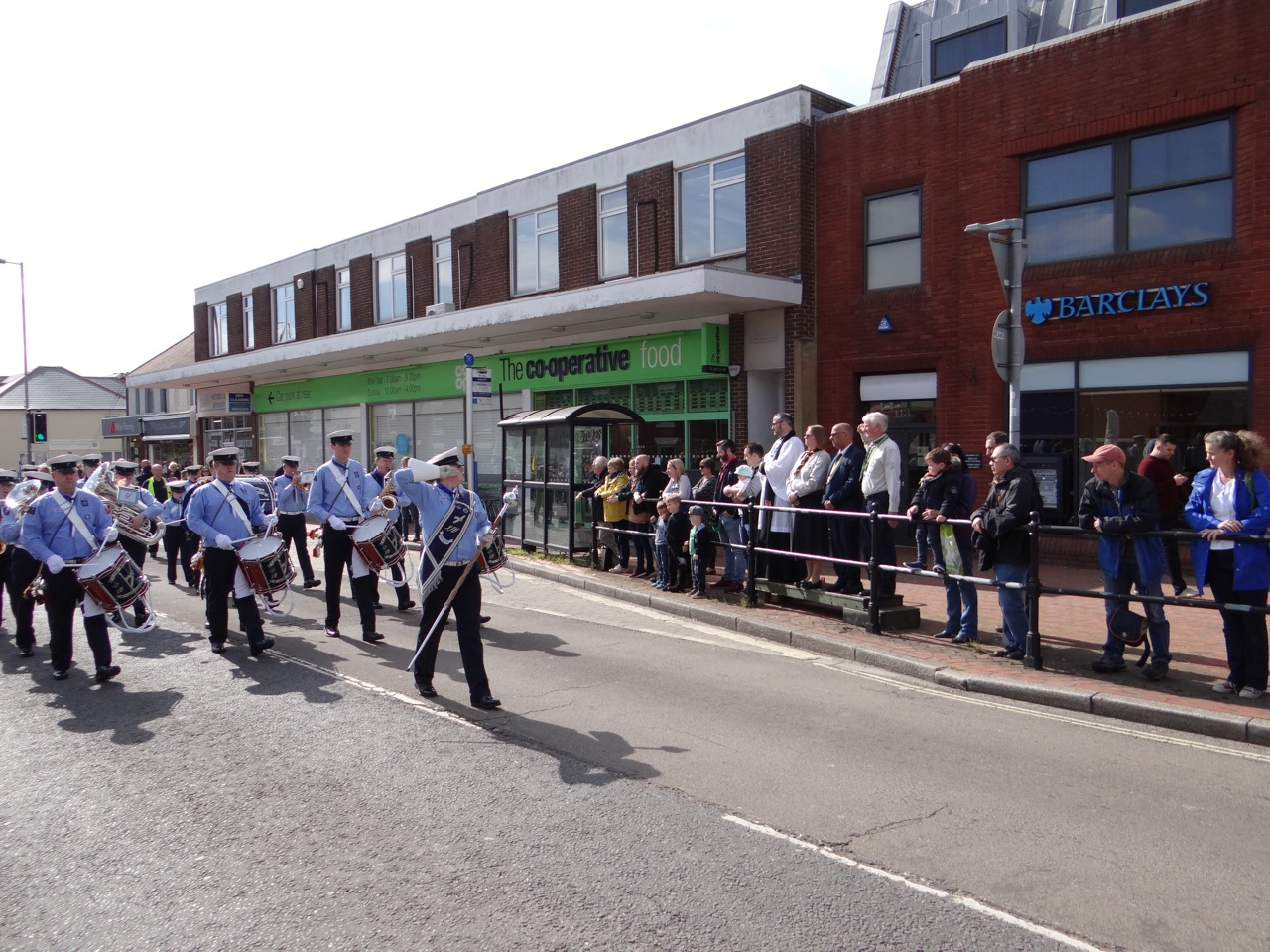 The 14th Eastleigh Spitfires Scout and Guide Band - Chandler's Ford Salute on St George's Day 2019. Image credit: Richard Doyle