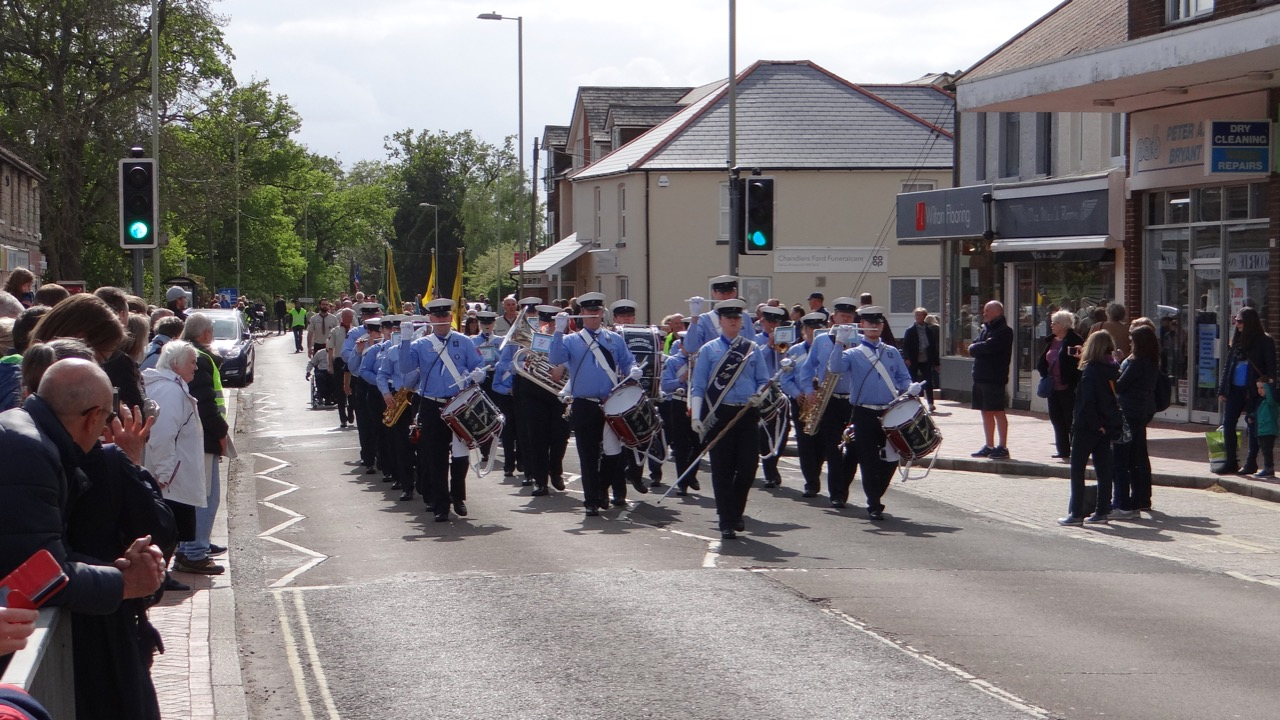 The 14th Eastleigh Spitfires Scout and Guide Band - absolutely remarkable. Image credit: Richard Doyle