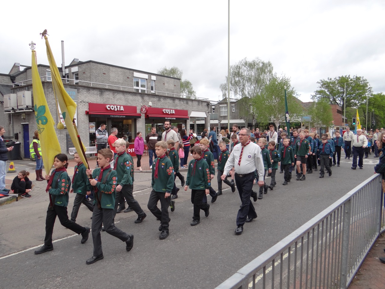 Chandler's Ford 3rd Scouts on St George's Day 2019. Image credit: Richard Doyle