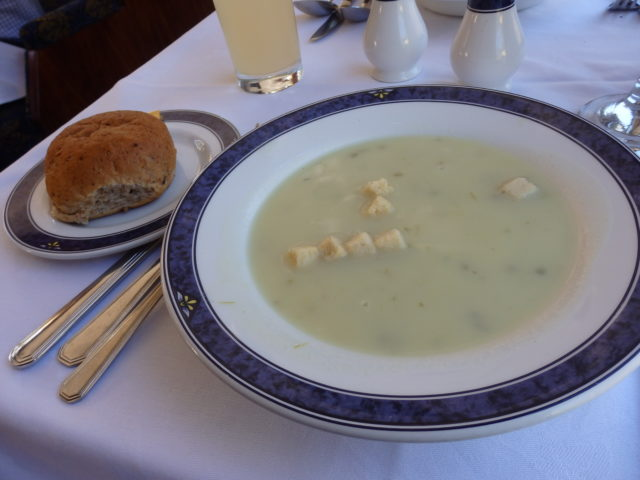 first course - soup of the day