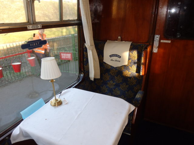 table on dining train
