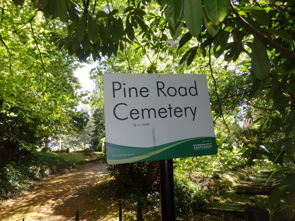 Sign for Pine Road Cemetery