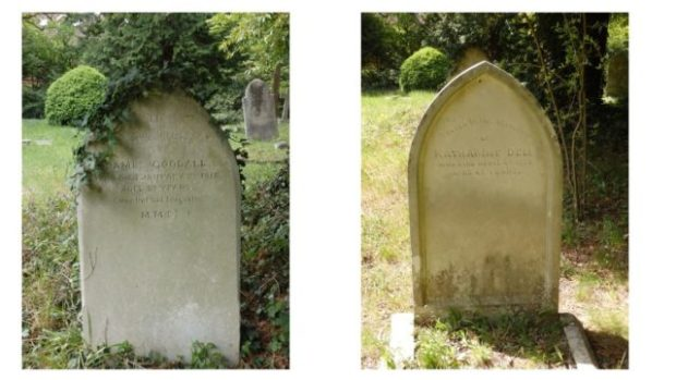 grave stones clean and clear at Pine Road cemetery