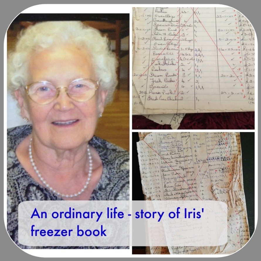 Iris' freezer book since 1973