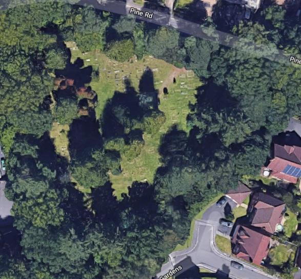 Sattelite image of Pine Road Cemetery