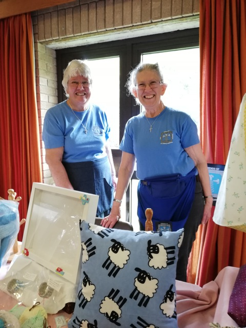Sisters - Daryl and Dean - with their amazing textile crafts