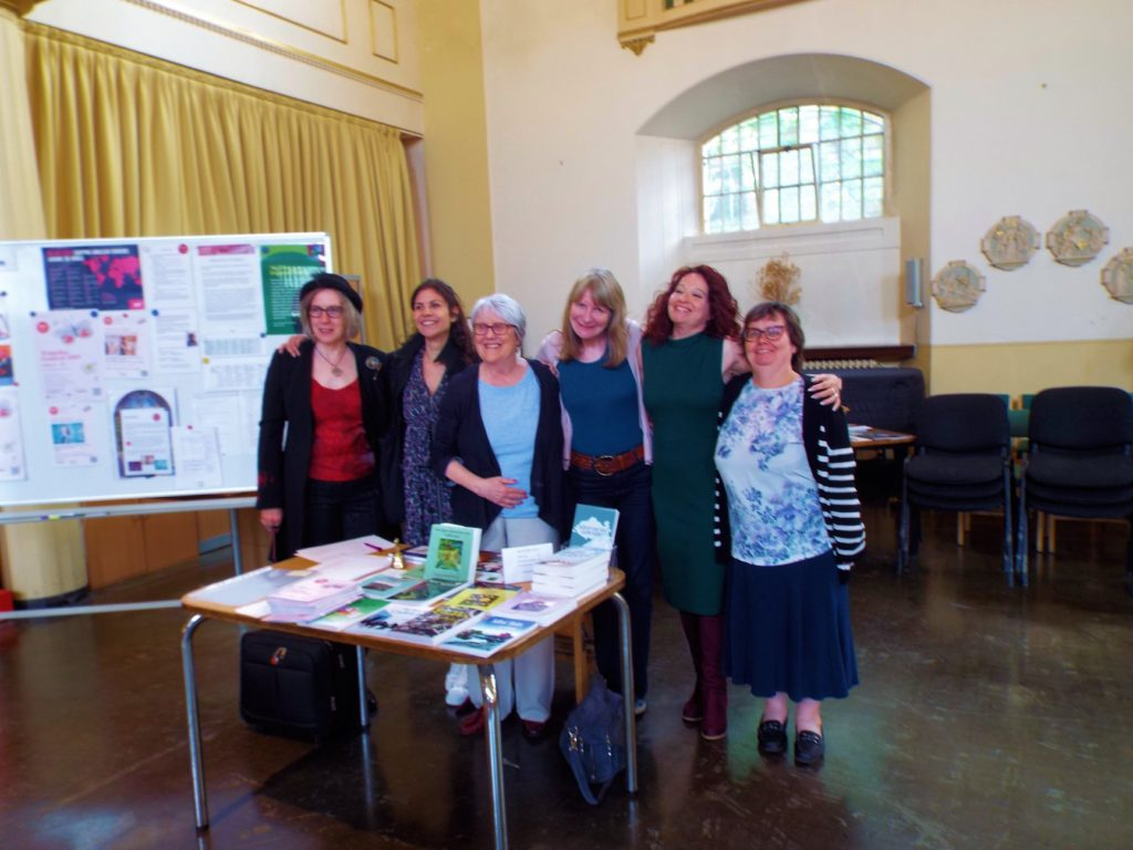 Happy writers at the WAF - photo taken by Ana Coelho