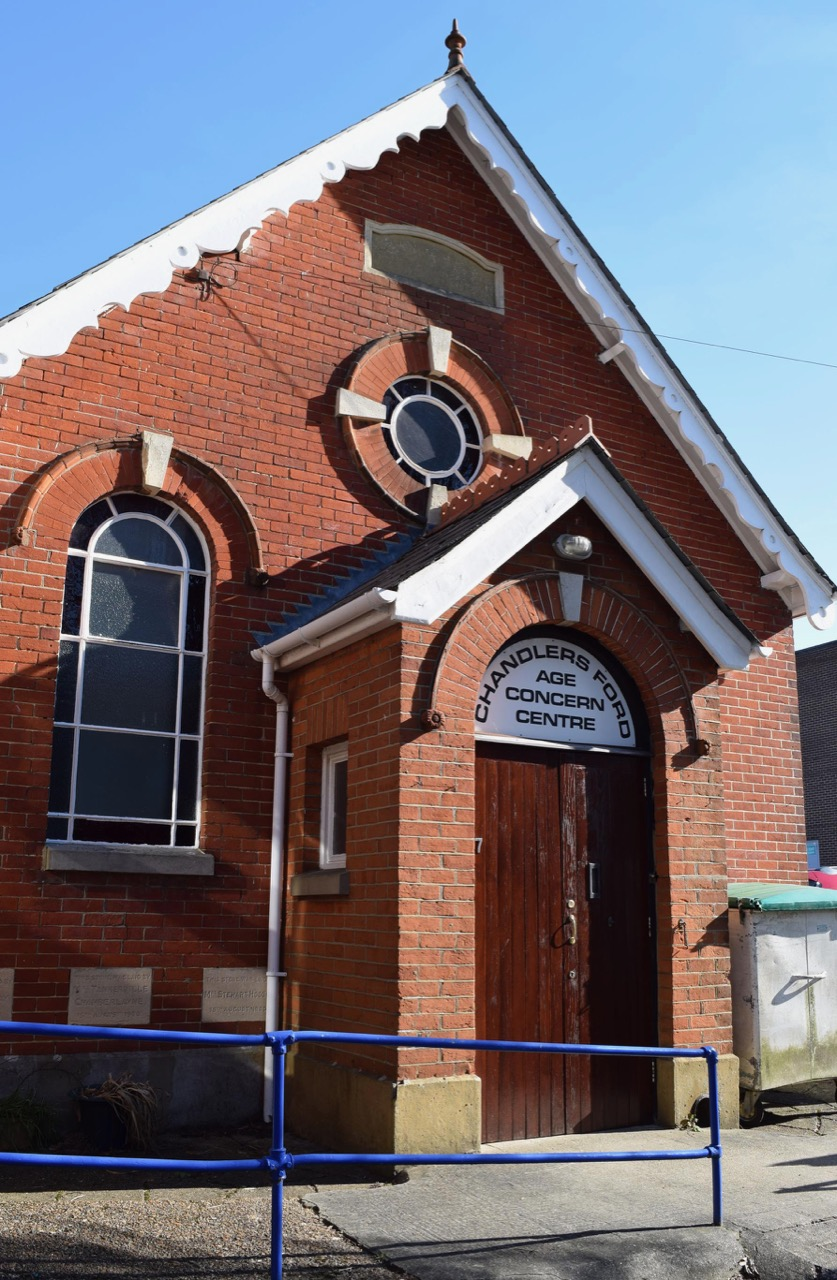 The old Methodist Chapel in Brownhill Road, now used by Age Concern.