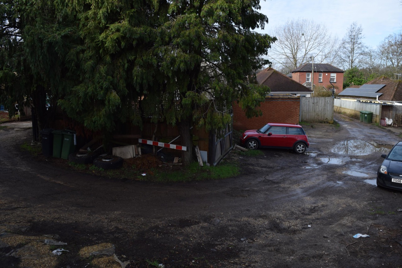 Behind the parade of shops in Bournemouth Road where Ferndale once stood.