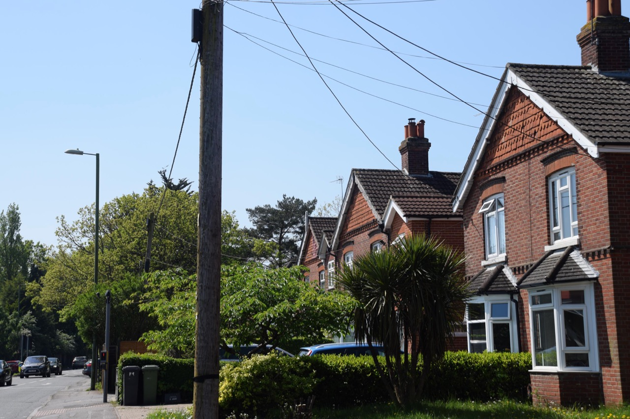 Semi-detached houses in Bournemouth Road built by Wren around 1892.