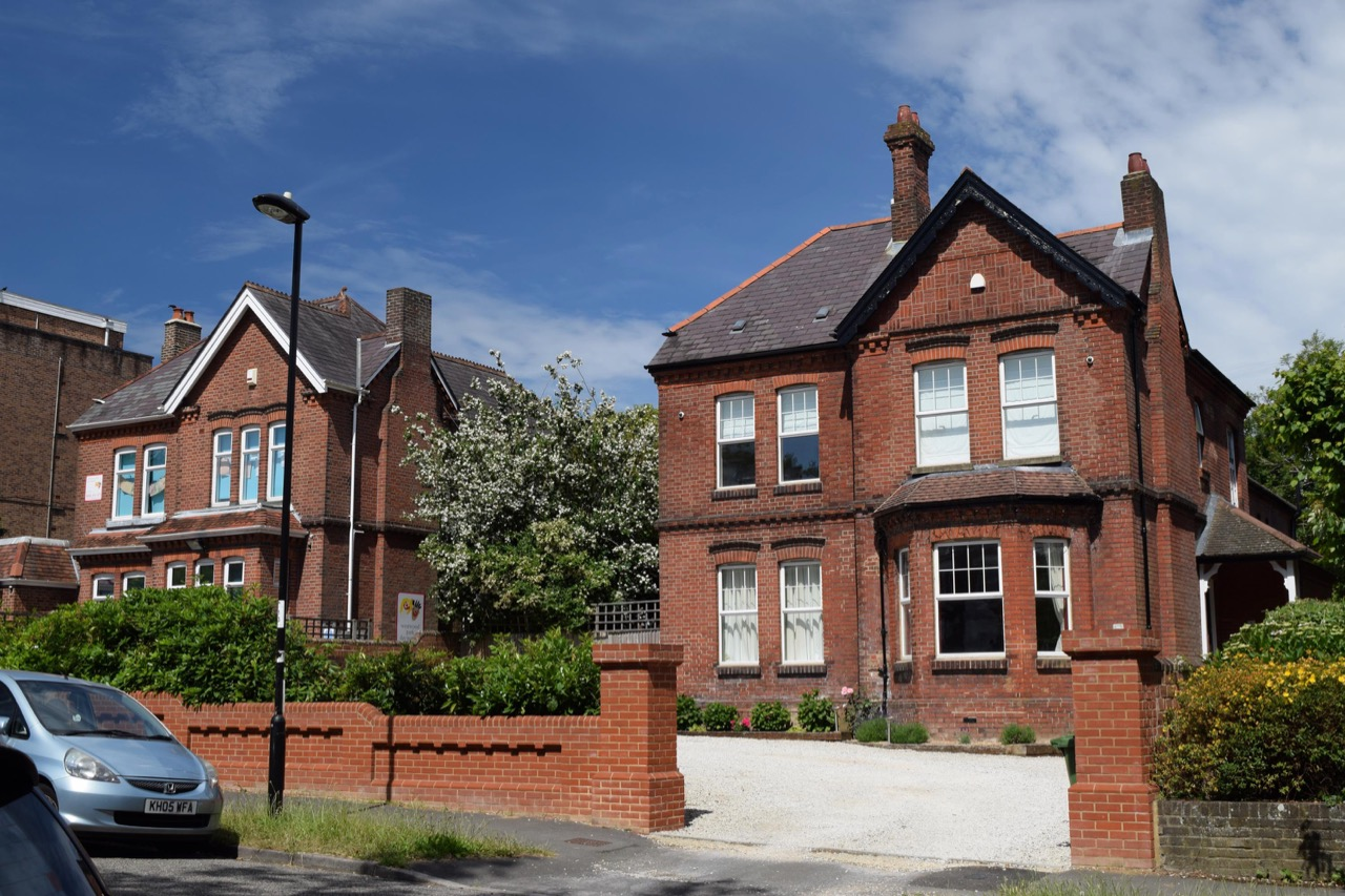 Large detached houses in Winn Road, Southampton. Built by Wren around 1890.