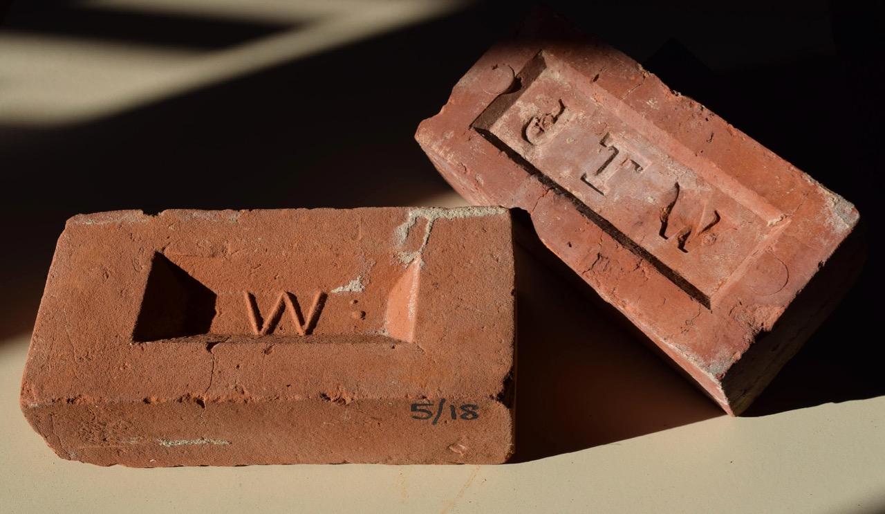 Bricks made in Wren's Chandler's Ford brickyard.