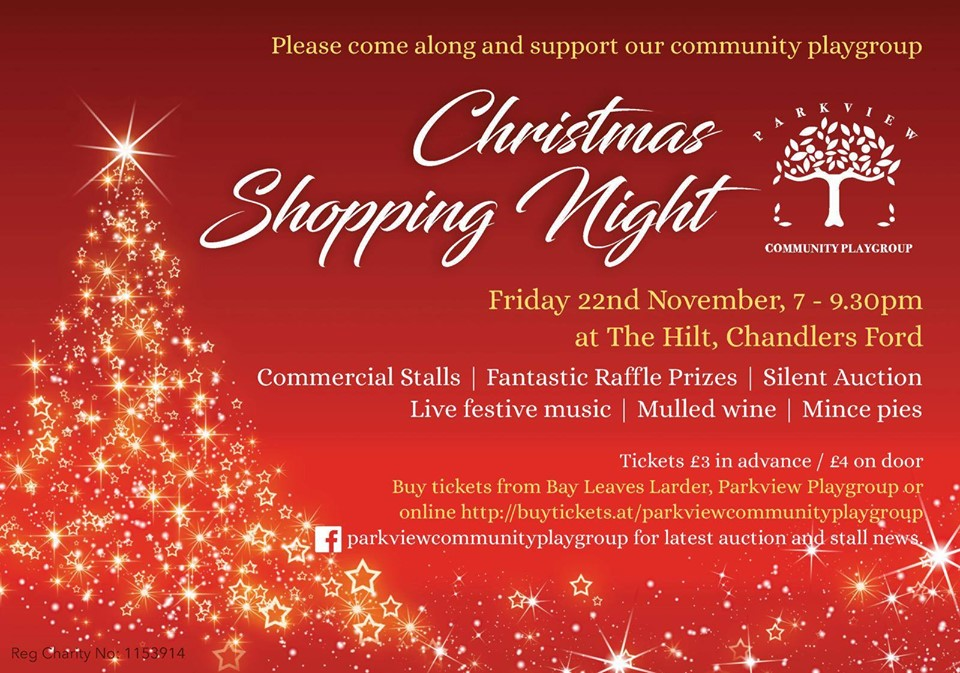 Christmas shopping night - 22nd November at The Hilt