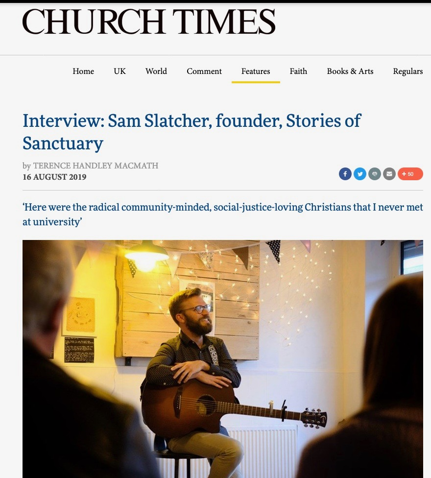 Dr Sam Slatcher, founder of Stories of Sanctuary