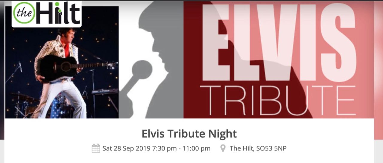 Elvis Tribute Night - Sat 28 Sep 2019. By Dave Dixon, finalist at the European Elvis championships, 2013.