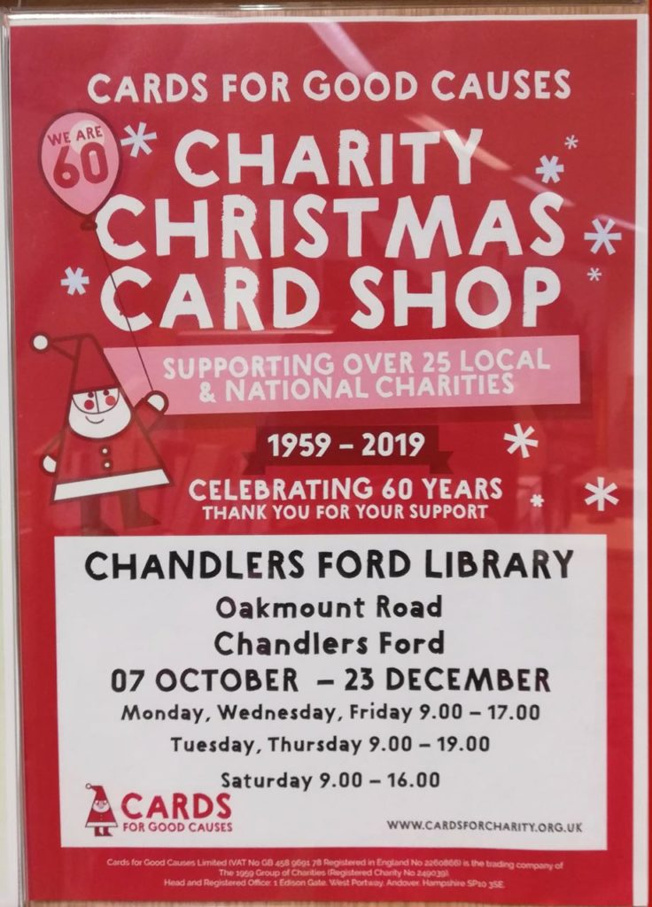 Charity Christmas Card Shop at Chandler's Ford Library