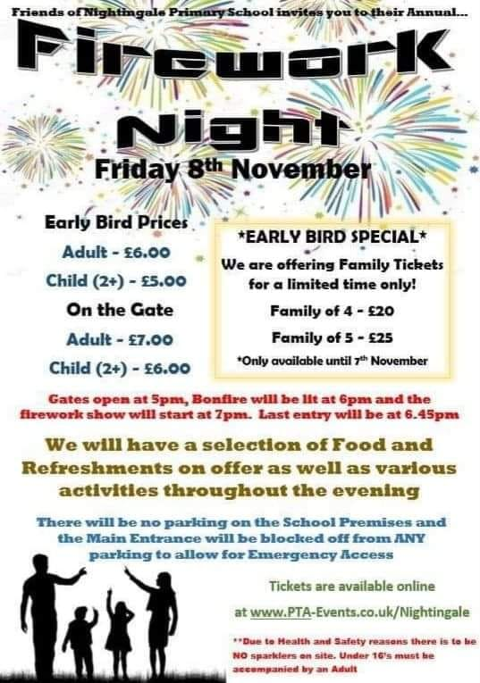 8th November - Firework Night - Nightingale Primary School