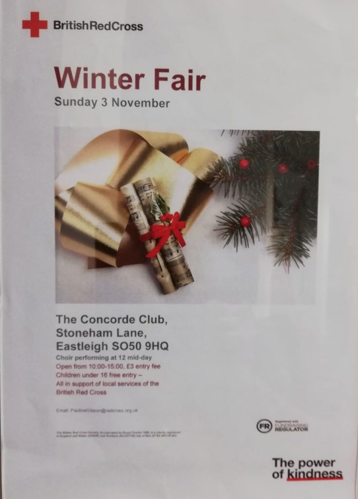 The Red Cross Winter Fair: 3 Nov 2019 Concorde Club
