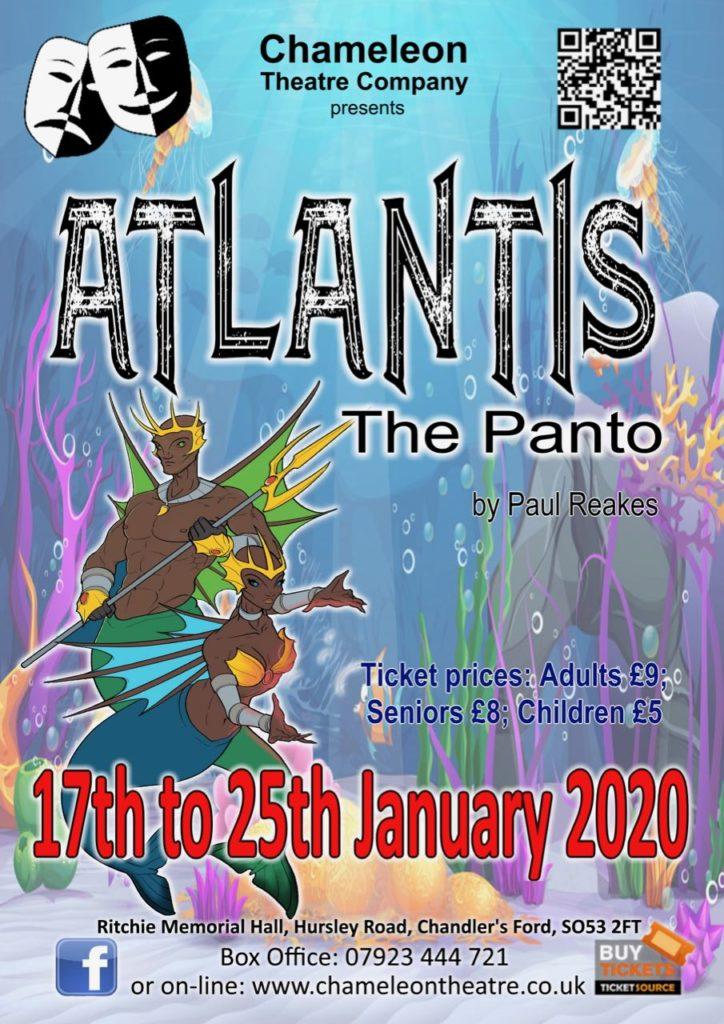 Chameleon Theatre Company - Atlantis - the Panto by Paul Reakes: Friday 17th - Saturday 25th January 2020