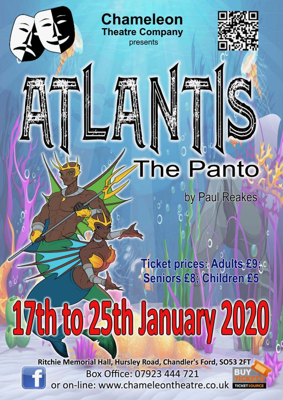 Chameleon Theatre Company - Atlantis - the Panto by Paul Reakes: Friday 17th - Saturday 25th January 2020
