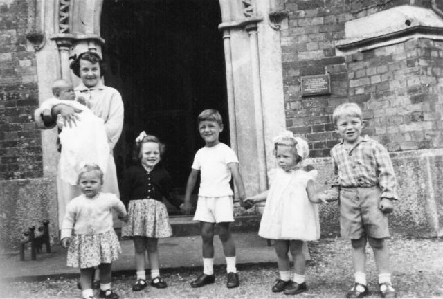 PHOTO 20 - Rowena Carter's christening outside Ampfield Church in 1954. The Carters lived at No. 72 Hook Road