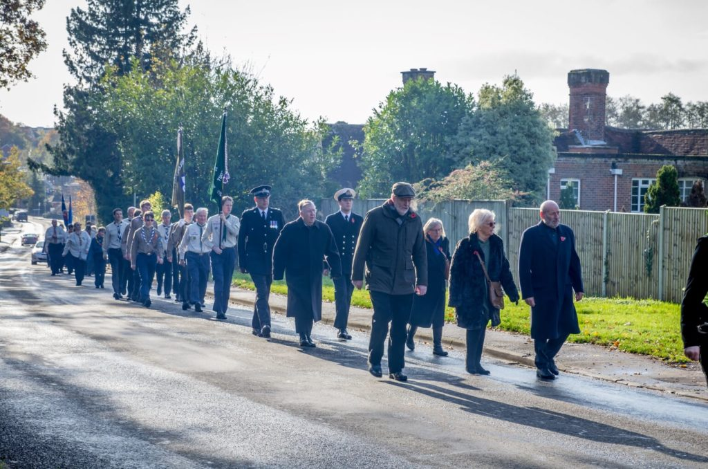 Remembrance Sunday 2019, Chandler's Ford, Eastleigh. Image credit: Debbie Pearce Photography
