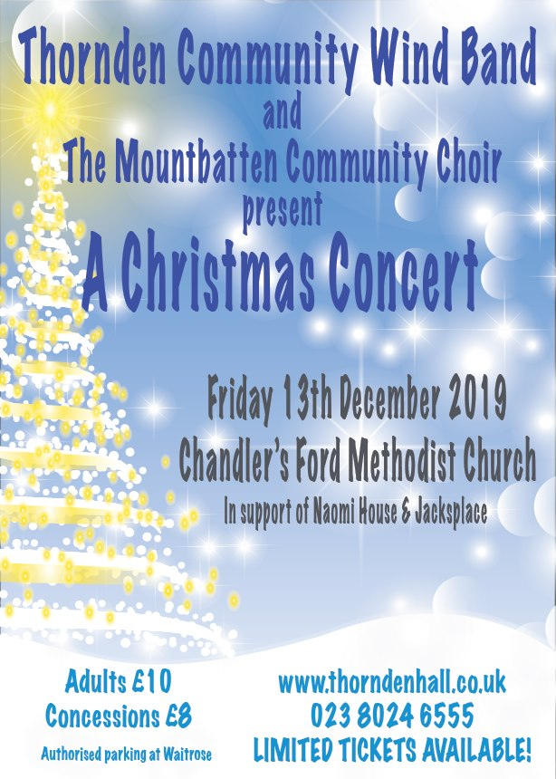 13th December 2019 - Thornden Community Wind Band - A Christmas Concert at Chandler's Ford Methodist Church