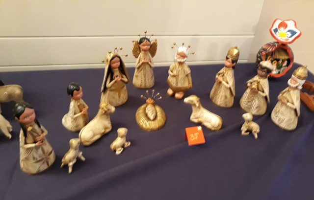 Nativity Scene at St Martin in the Woods Many Mangers exhibition