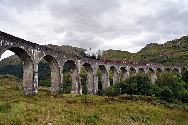 The Glenfinnian Viaduct on the Fort William to Mallaig run