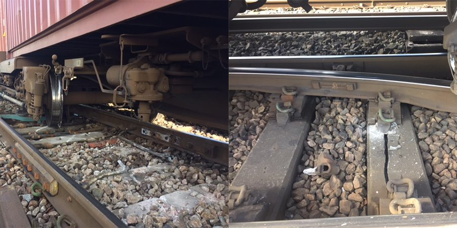 Eastleigh derailment - image via Network Rail