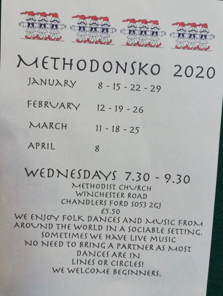Methodonsko 2020 at the Methodist Church