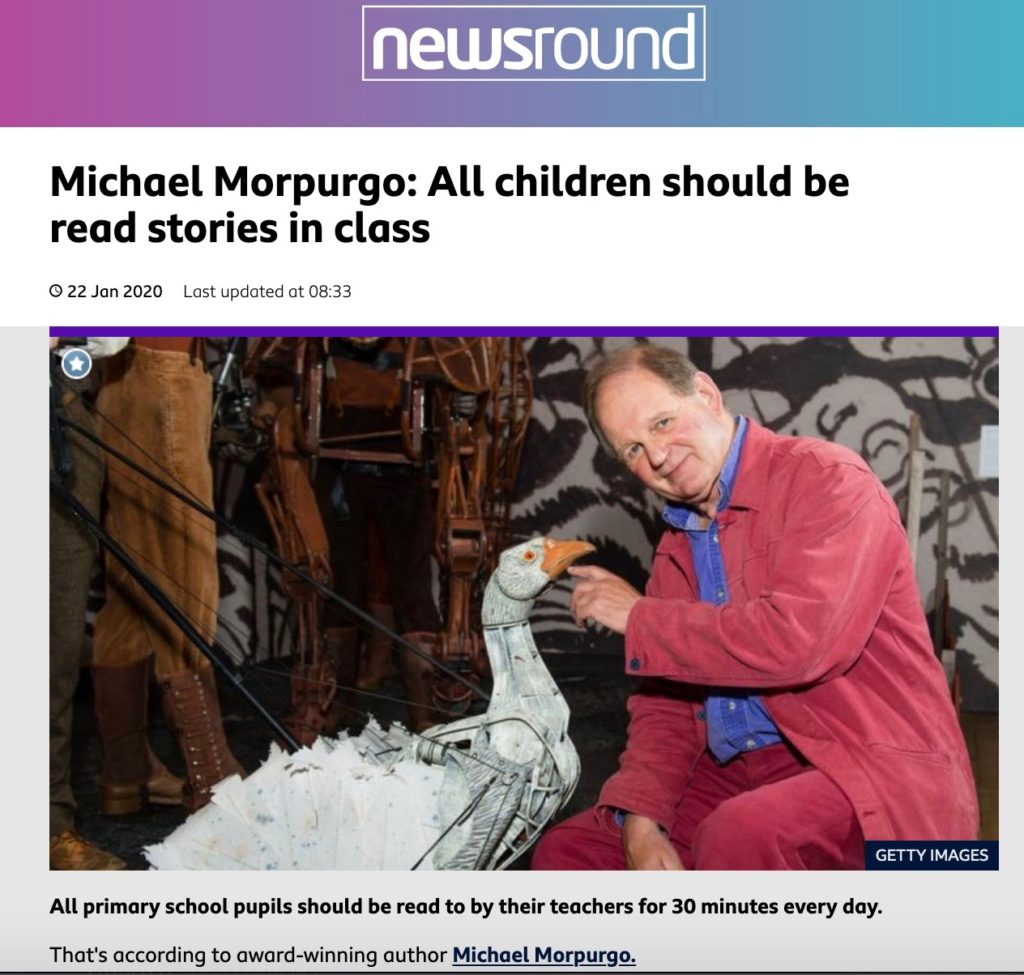 Michael Morpurgo: All children should be read stories in class (BBC Newsround)