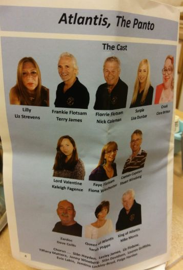 The Cast - image from pantomime programme.