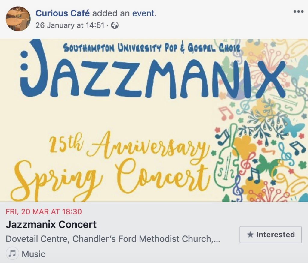 Friday 20 MAR at 18:30 Jazzmanix Concert, Dovetail Centre, Chandler's Ford Methodist Church
