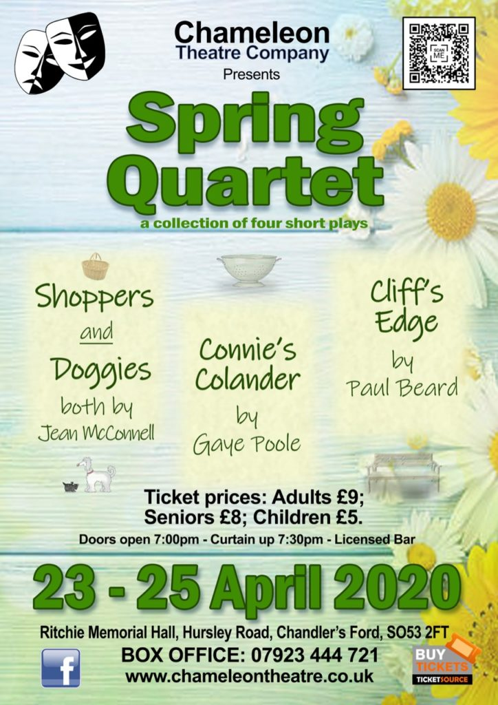 Spring Quartet - A collection of four short plays - by The Chameleons Thurs 23rd - Sat 25th April 2020