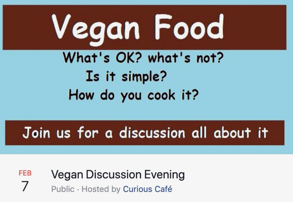 Vegan food tasting