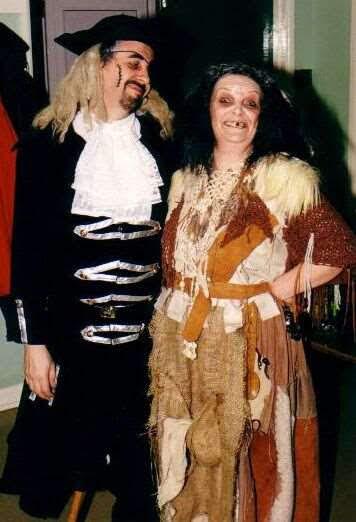 Long John Silver and Bertha Gunn - don't they make a lovely couple