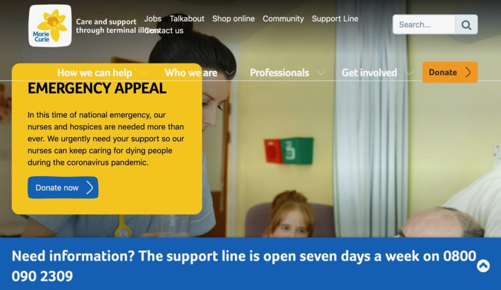 Marie Curie emergency appeal