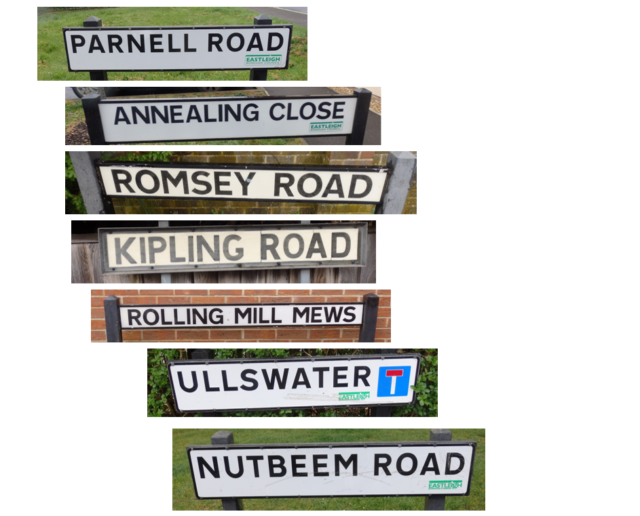 Street signs for parkrun