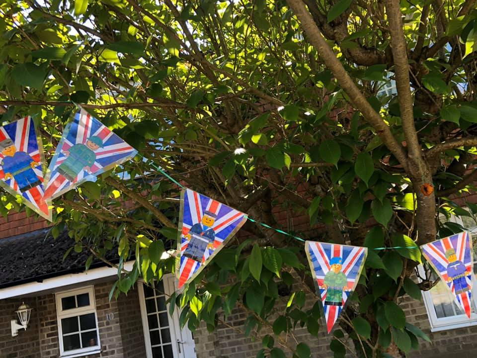 Bunting by children in Chandler's Ford - image by Jill Mayes