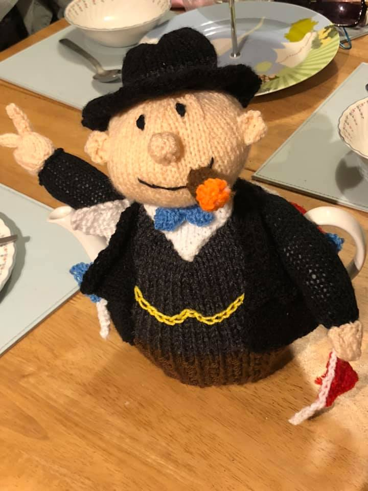 Churchill - knitted by Jill Mayes