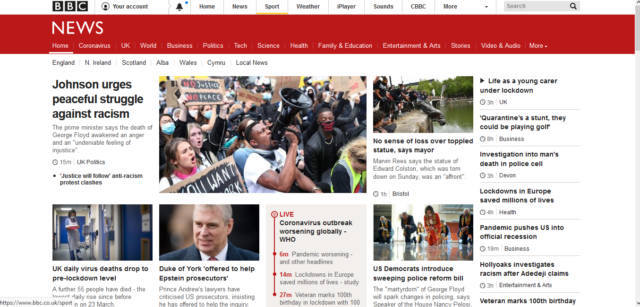 BBC News on Computer