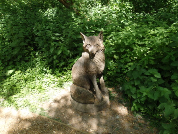 Carved Wooden Fox