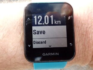 GPS Watch showing 12km walked